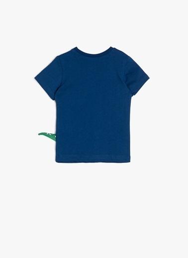 Koton Koton Baskılı Lacivert T-Shirt Lacivert